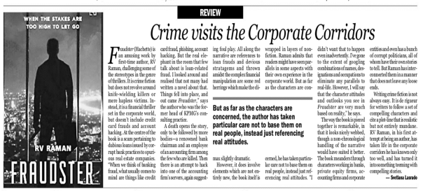 Fraudster Review - Indian Express Bangalore 7 Oct 14